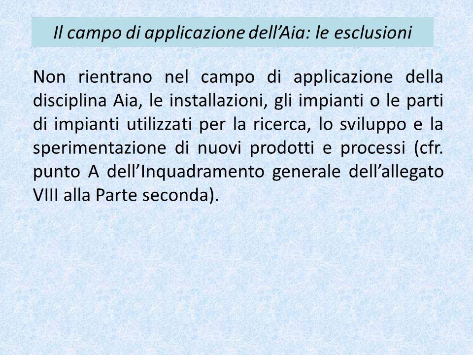 Il campo di applicazione dell'Aia: le esclusioni