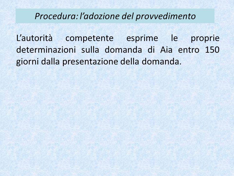 Procedura: l'adozione del provvedimento