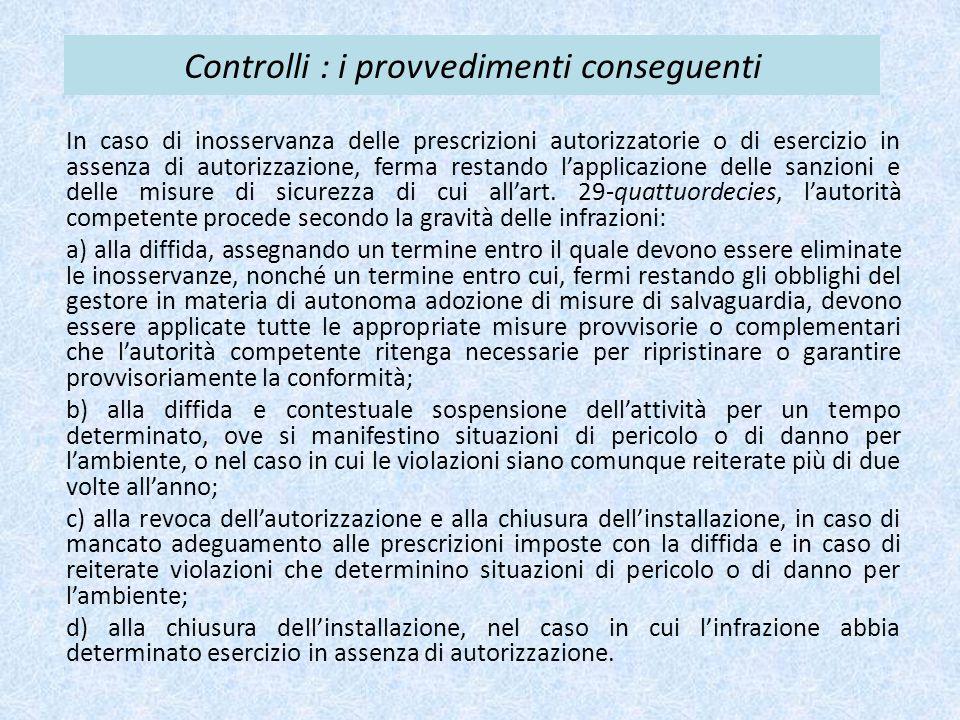 Controlli : i provvedimenti conseguenti