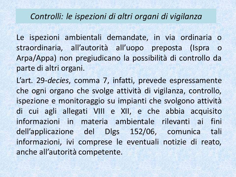Controlli: le ispezioni di altri organi di vigilanza