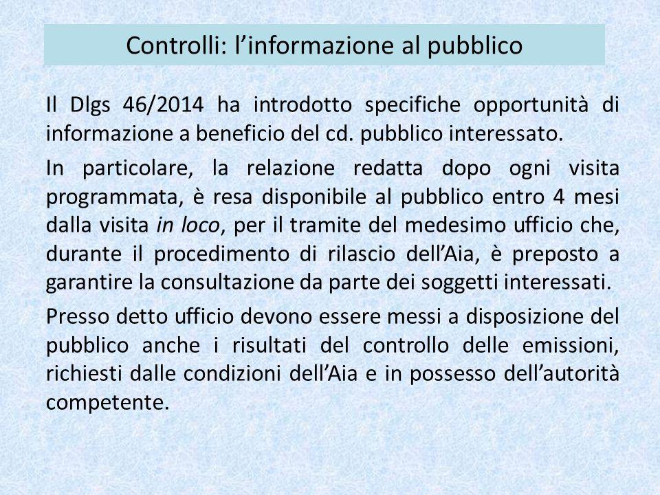 Controlli: l'informazione al pubblico