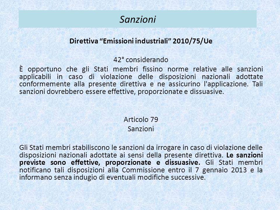Direttiva Emissioni industriali 2010/75/Ue