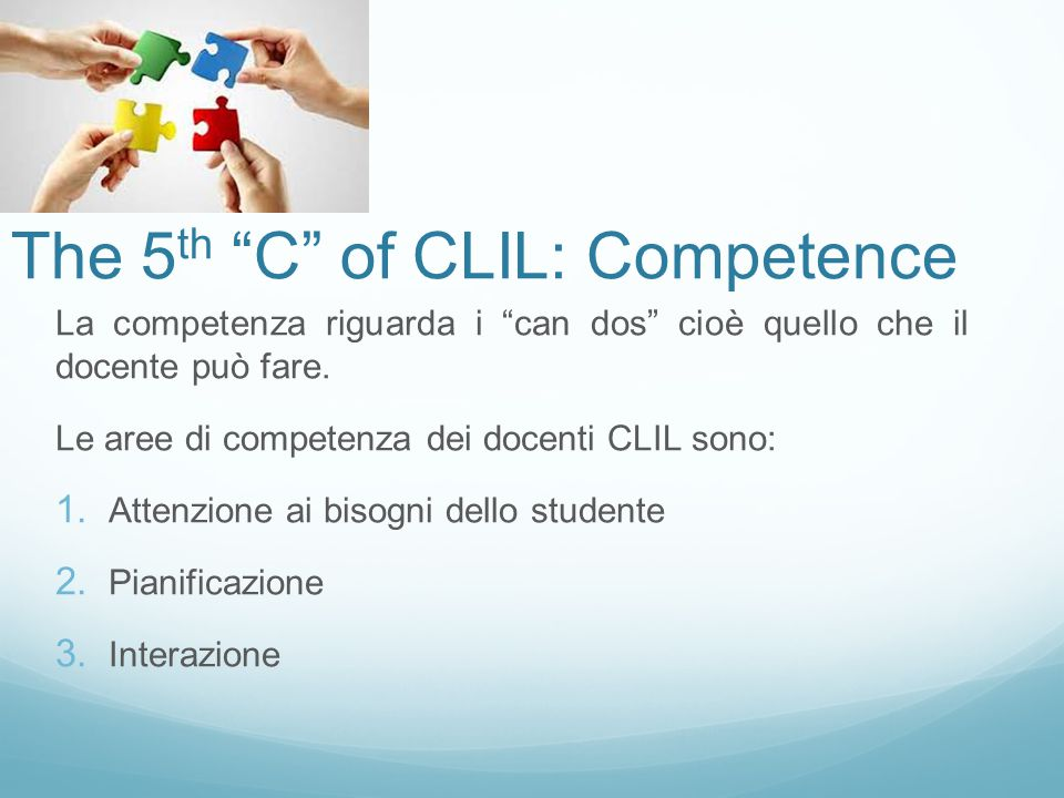 The 5th C of CLIL: Competence