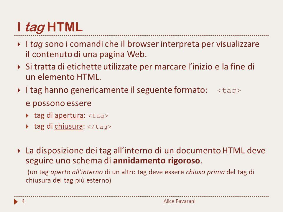 I tag HTML e possono essere