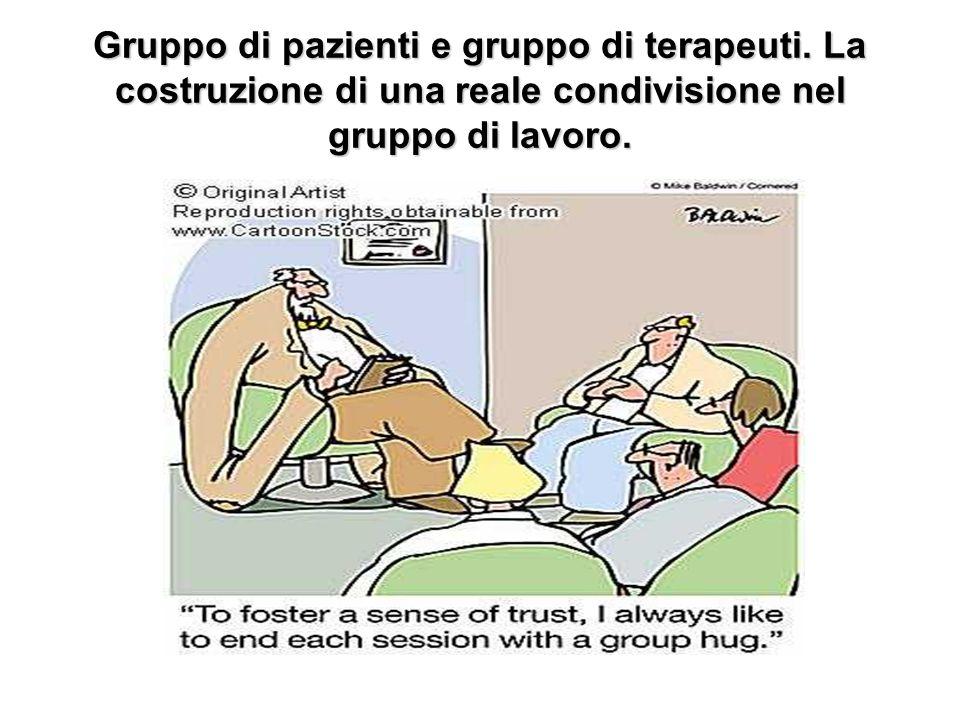 Gruppo di pazienti e gruppo di terapeuti