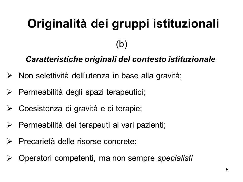 Originalità dei gruppi istituzionali (b)