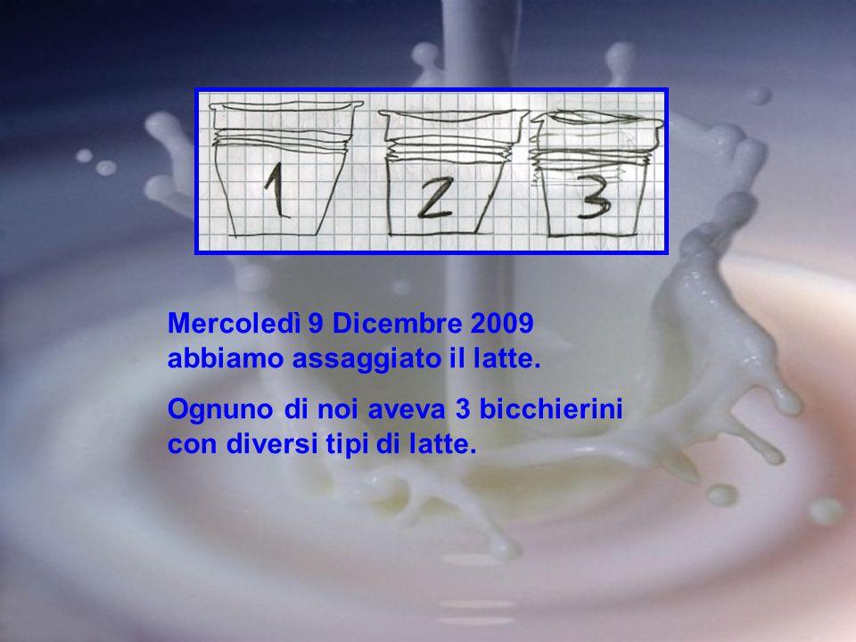 Mercoledì 9 Dicembre 2009 abbiamo assaggiato il latte.