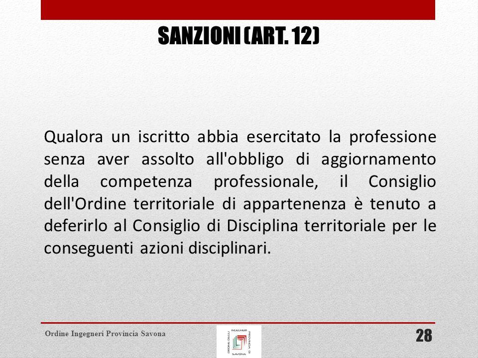 Sanzioni (ART. 12)