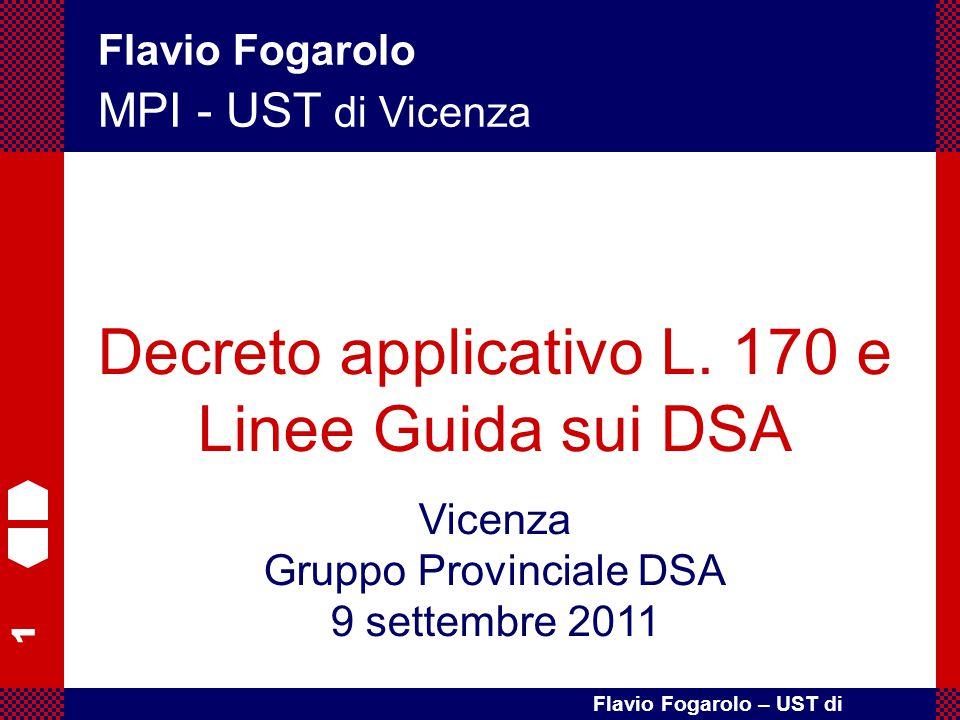 Decreto applicativo L. 170 e Linee Guida sui DSA