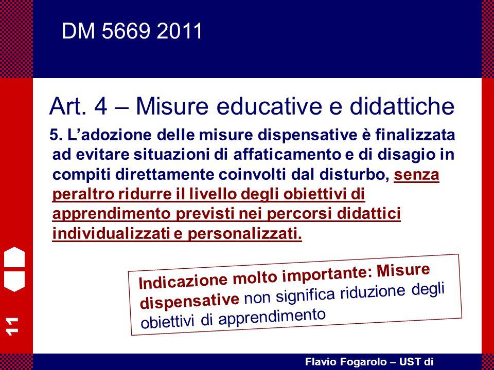 Art. 4 – Misure educative e didattiche