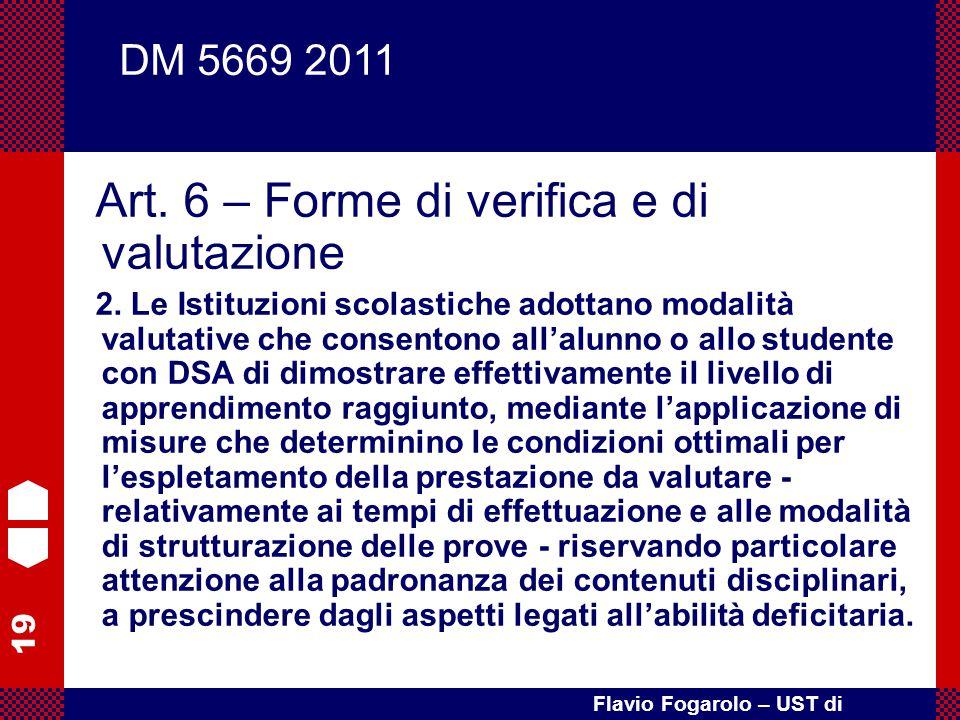 Art. 6 – Forme di verifica e di valutazione