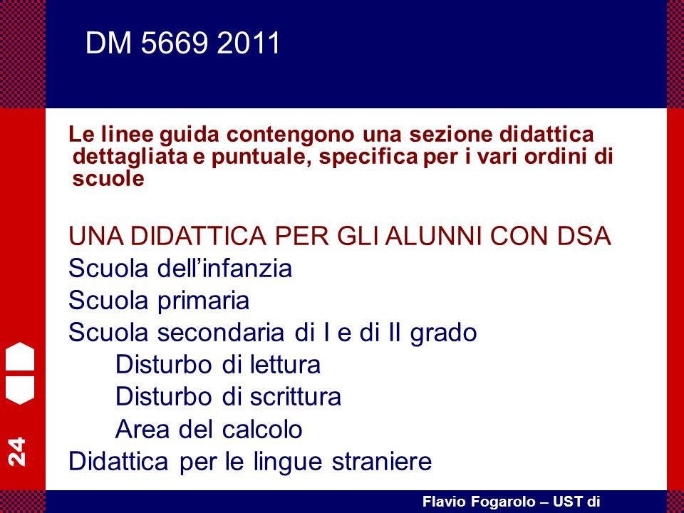 DM 5669 2011 UNA DIDATTICA PER GLI ALUNNI CON DSA Scuola dell'infanzia
