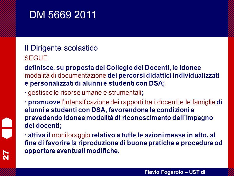 DM 5669 2011 Il Dirigente scolastico SEGUE