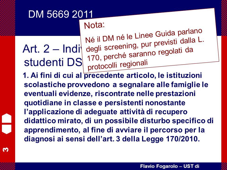 Art. 2 – Individuazione di alunni e studenti DSA