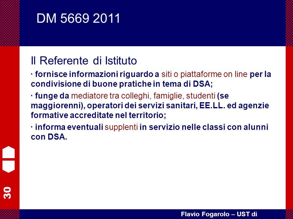 DM 5669 2011 Il Referente di Istituto