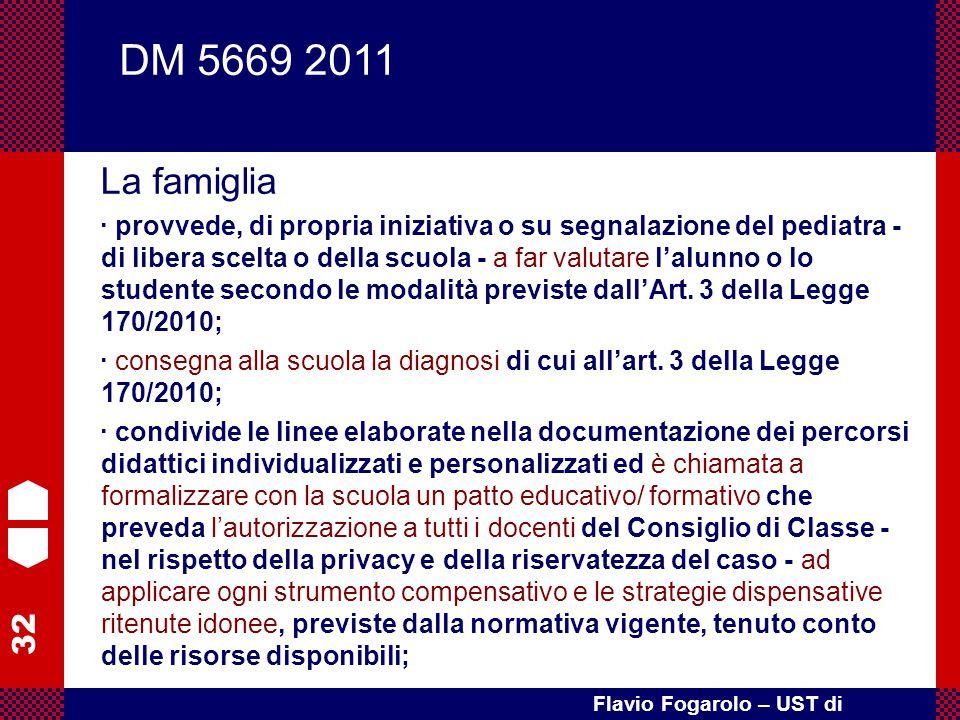 DM 5669 2011 La famiglia.