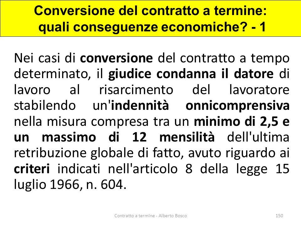 Conversione del contratto a termine: quali conseguenze economiche - 1