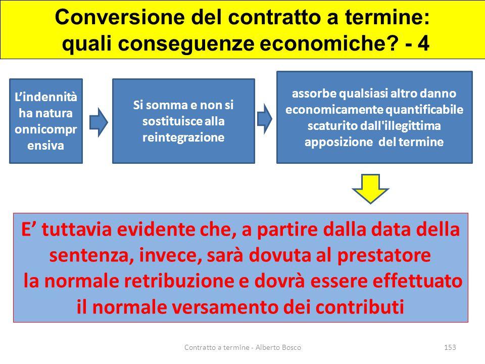 Conversione del contratto a termine: quali conseguenze economiche - 4