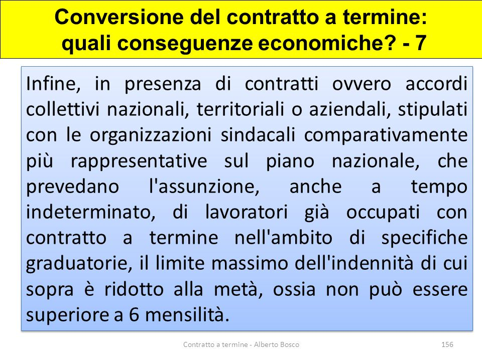 Conversione del contratto a termine: quali conseguenze economiche - 7