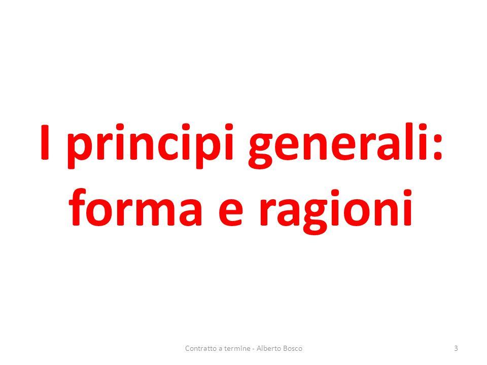 I principi generali: forma e ragioni