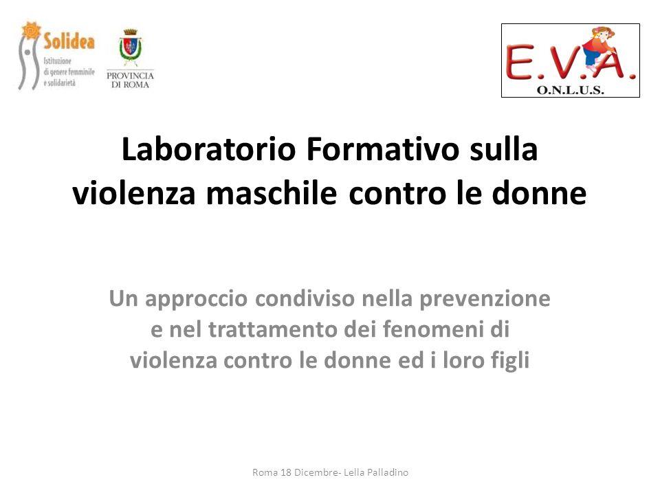 Laboratorio Formativo sulla violenza maschile contro le donne