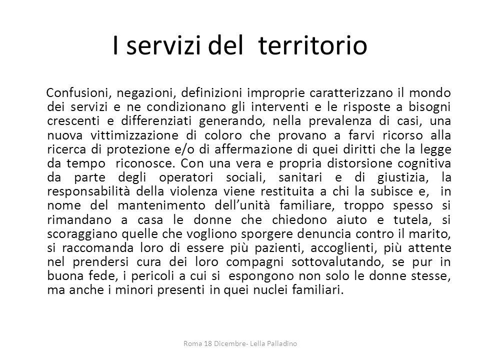 I servizi del territorio