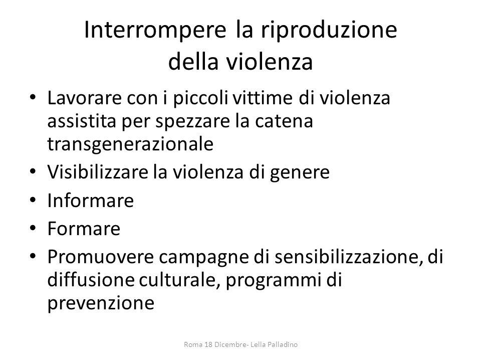 Interrompere la riproduzione della violenza