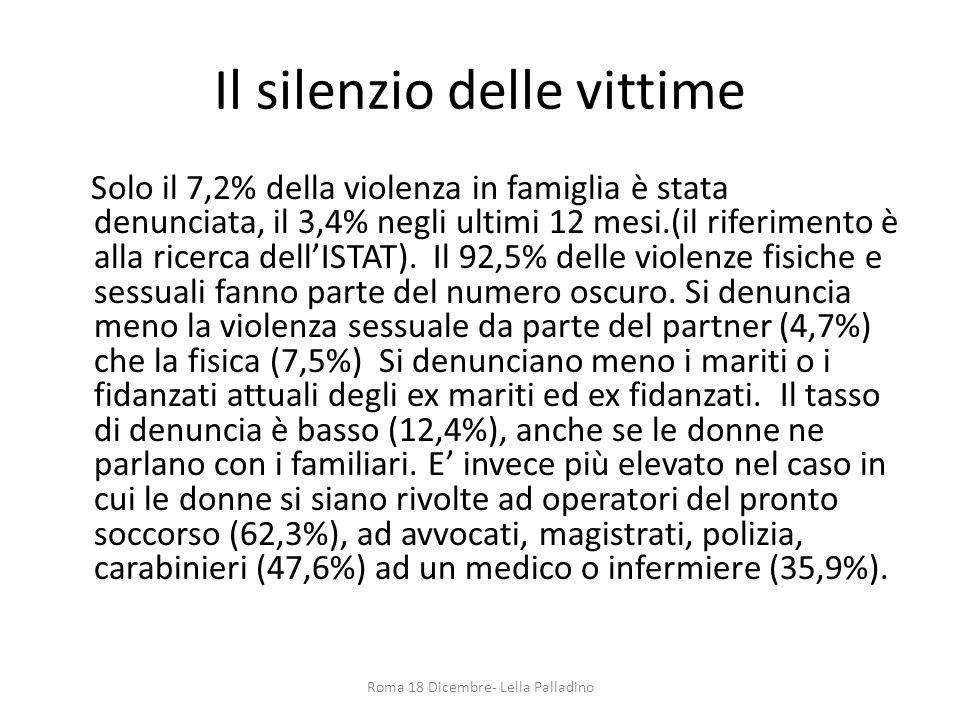 Il silenzio delle vittime