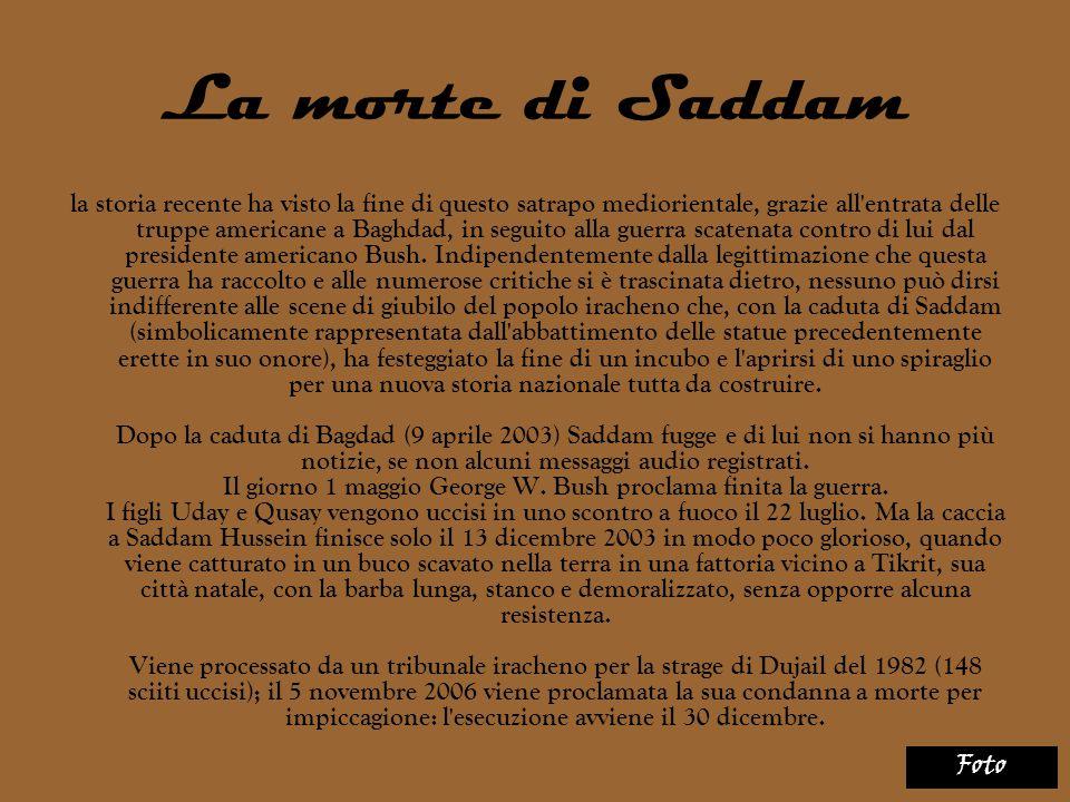 La morte di Saddam