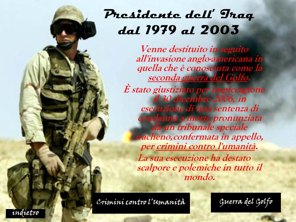 Presidente dell' Iraq dal 1979 al 2003