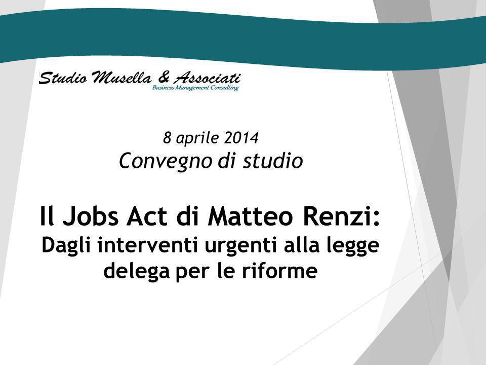 Il Jobs Act di Matteo Renzi: