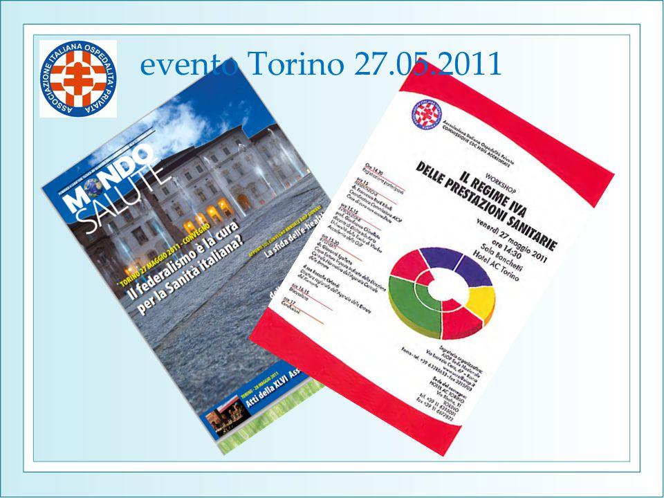 evento Torino 27.05.2011 Ma a Torino avevamo vissuto il nostro «momento di gloria»