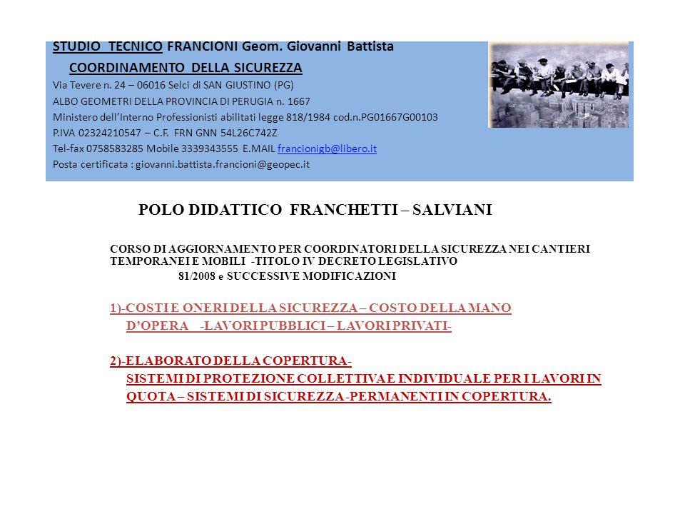 STUDIO TECNICO FRANCIONI Geom