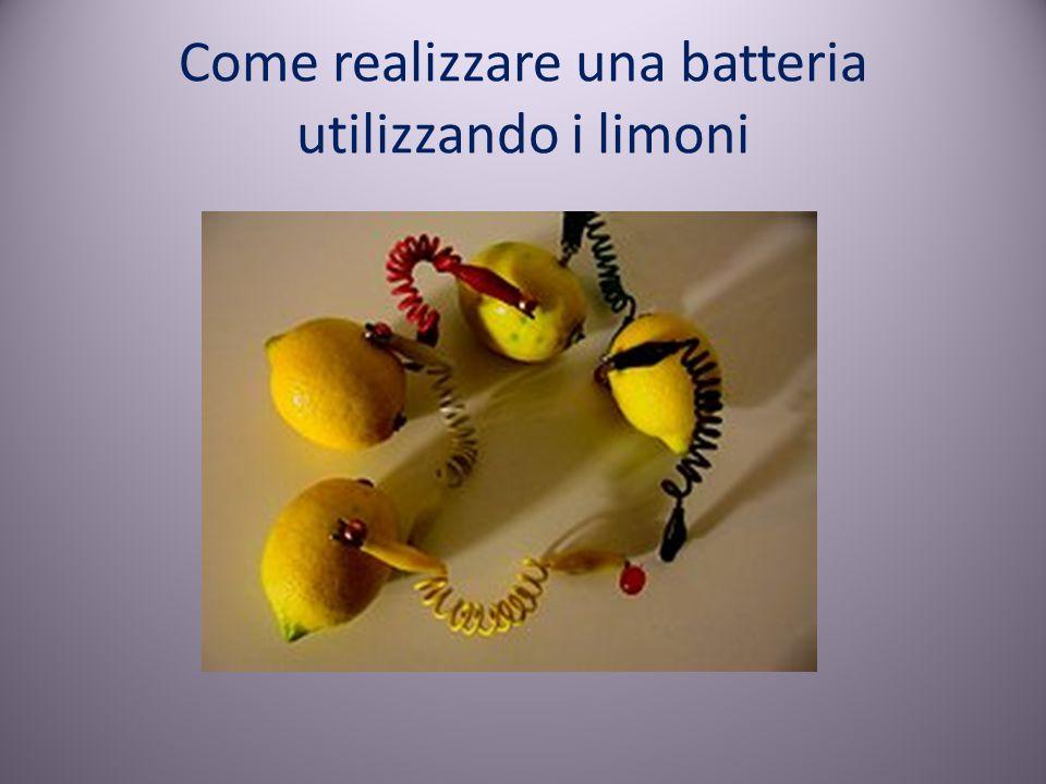 Come realizzare una batteria utilizzando i limoni
