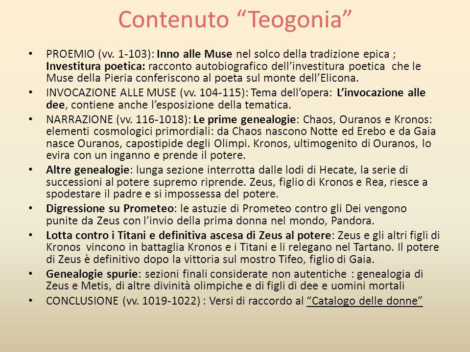 Contenuto Teogonia