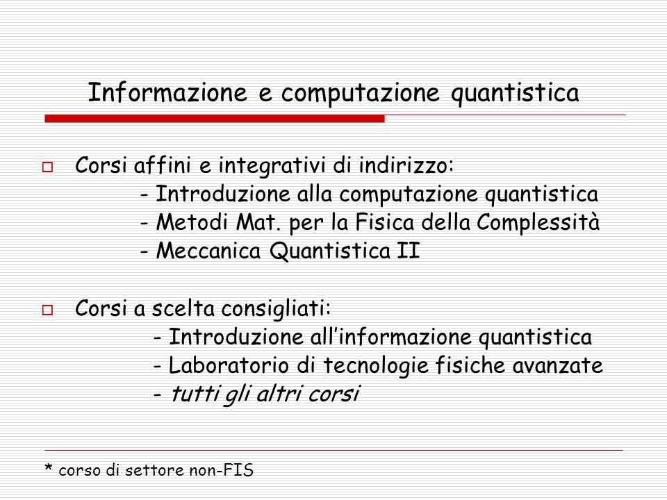 Informazione e computazione quantistica