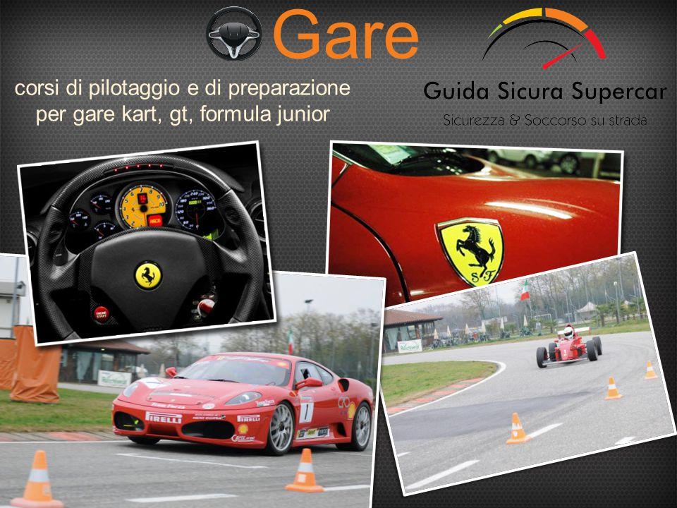 Gare corsi di pilotaggio e di preparazione per gare kart, gt, formula junior
