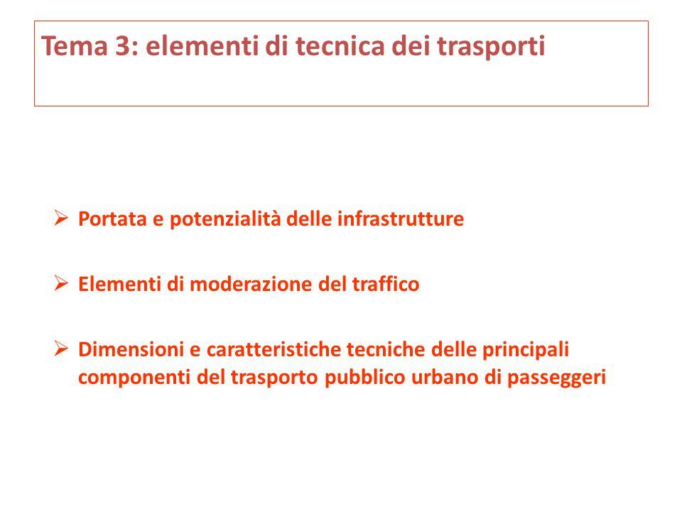 Tema 3: elementi di tecnica dei trasporti