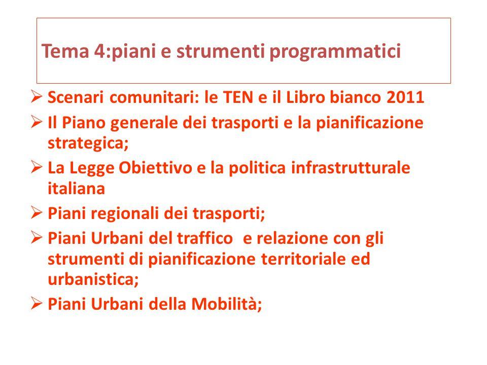 Tema 4:piani e strumenti programmatici