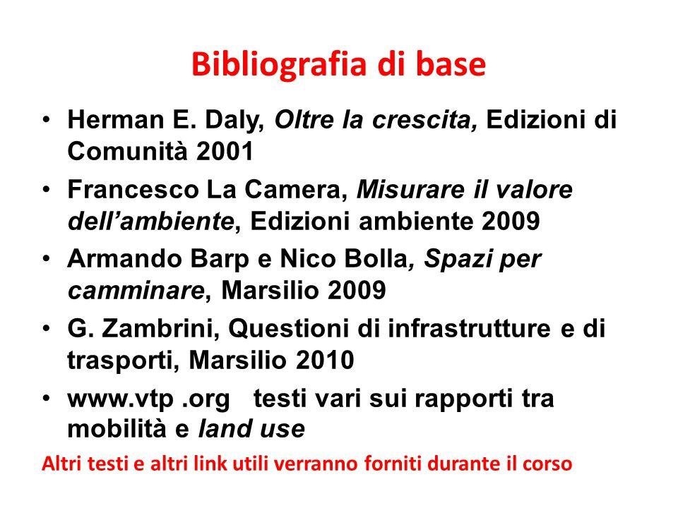 Bibliografia di base Herman E. Daly, Oltre la crescita, Edizioni di Comunità 2001.