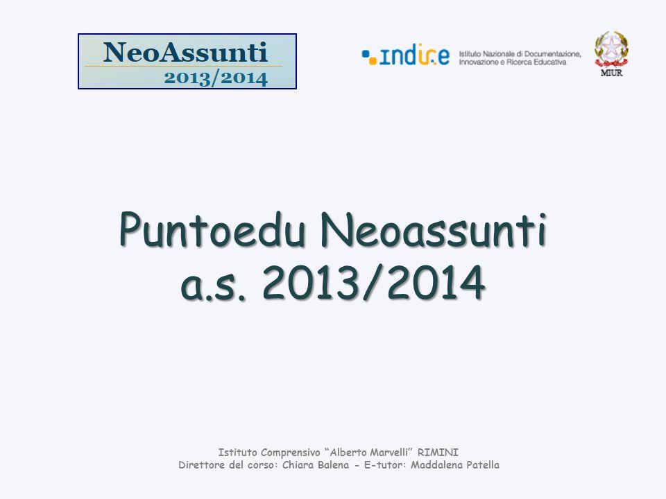 Puntoedu Neoassunti a.s. 2013/2014