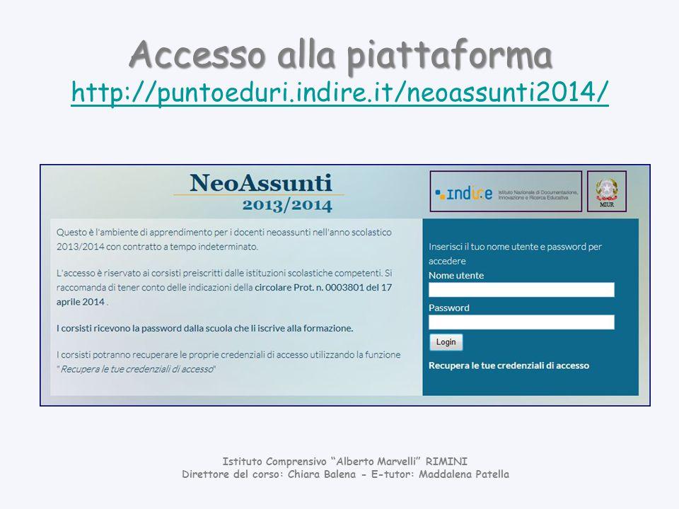 Accesso alla piattaforma http://puntoeduri.indire.it/neoassunti2014/