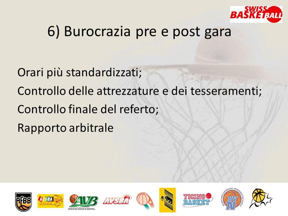 6) Burocrazia pre e post gara