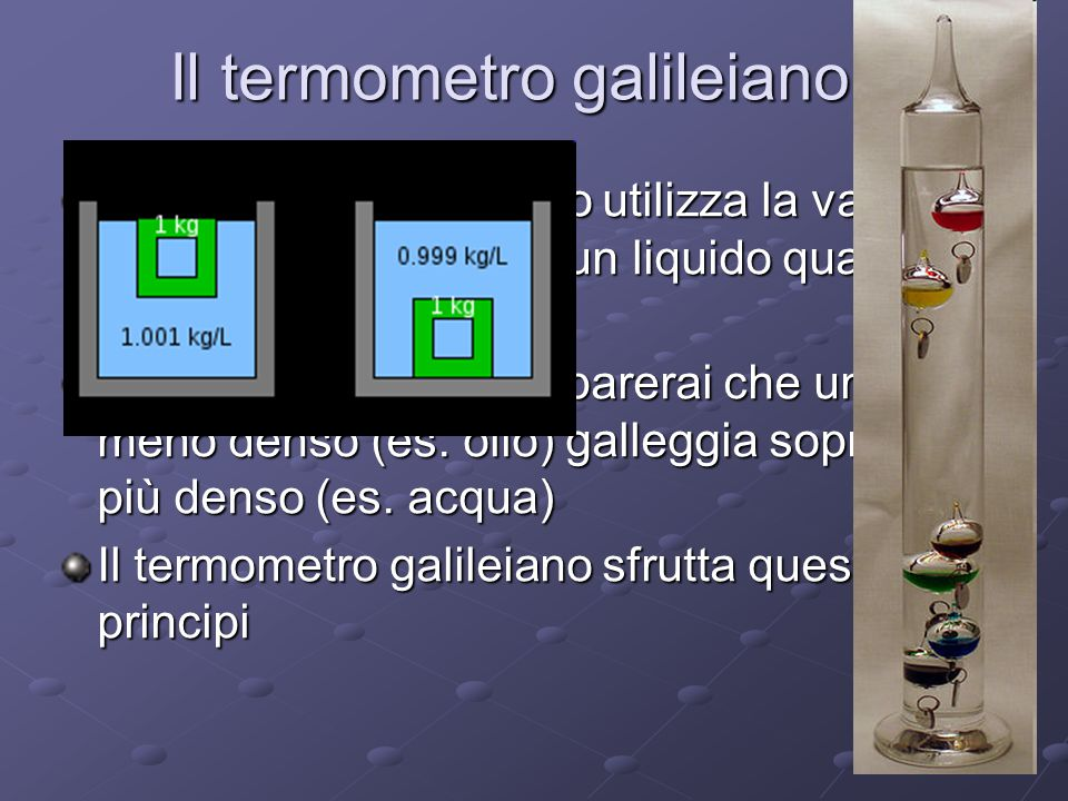 Il termometro galileiano
