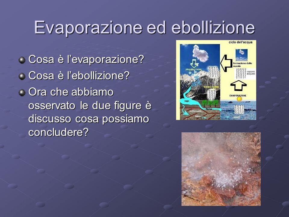Evaporazione ed ebollizione