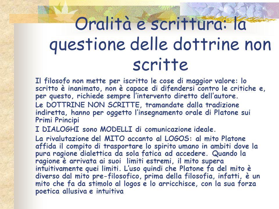 Oralità e scrittura: la questione delle dottrine non scritte
