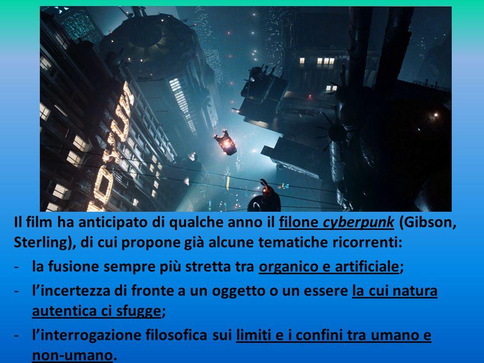 Il film ha anticipato di qualche anno il filone cyberpunk (Gibson, Sterling), di cui propone già alcune tematiche ricorrenti: