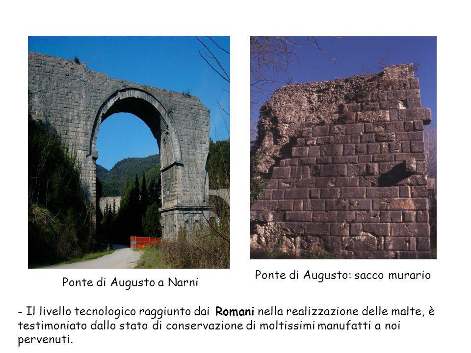Ponte di Augusto: sacco murario