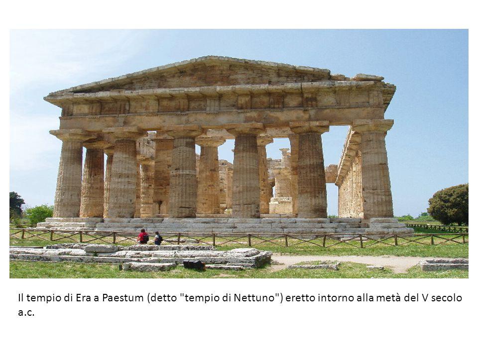 Il tempio di Era a Paestum (detto tempio di Nettuno ) eretto intorno alla metà del V secolo a.c.