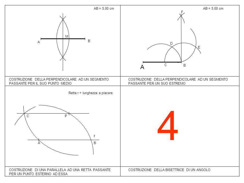 4 A r AB = 5,00 cm AB = 5,00 cm B C D E F B A M